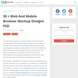 30 + Web and Mobile Browser Mockup Designs PSD