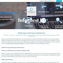 Mobile apps are the future of businesses – Infoquest IT