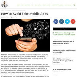 How to Avoid Fake Mobile Apps - Ade Camilleri Marketing News