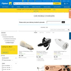Car Mobile Chargers - Buy Car Mobile Chargers Online at Best Prices In India