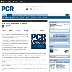 PCR's Top 30 Women in Mobile