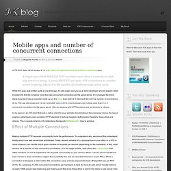 Mobile apps and number of concurrent connections
