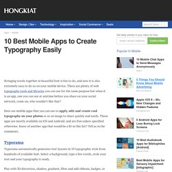 10 Best Mobile Apps to Create Typography Easily