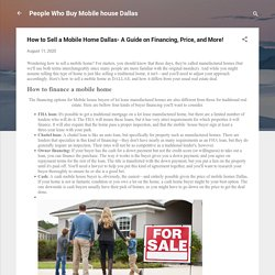How to Sell a Mobile Home Dallas- A Guide on Financing, Price, and More!