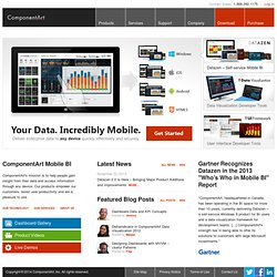 Digital Dashboards and Data Visualization by ComponentArt
