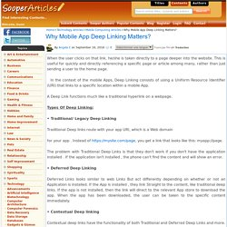 Why Mobile App Deep Linking Matters?