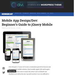 Building Websites and Browser Apps with jQuery Mobile: A Beginner's Guide