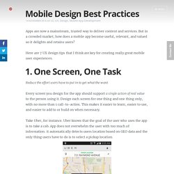 Mobile Design Best Practices