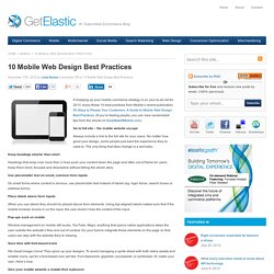 10 Mobile Web Design Best Practices
