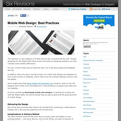 Mobile Web Design: Best Practices