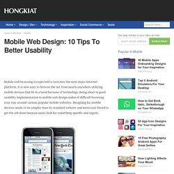 Mobile Web Design: 10 Tips To Better Usability