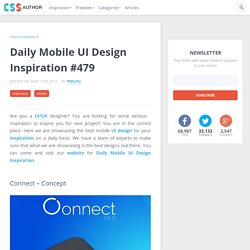 Daily Mobile UI Design Inspiration #479