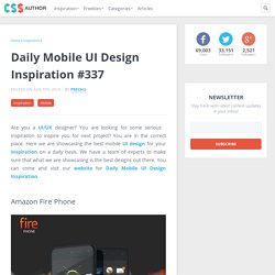 Daily Mobile UI Design Inspiration #337