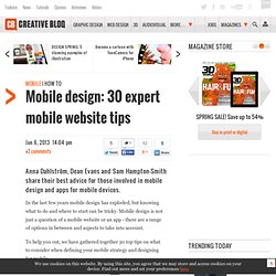 Mobile website design: 25 pro tips