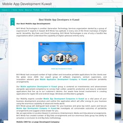 Mobile App Development Kuwait: Best Mobile App Developers in Kuwait