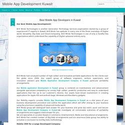 Mobile App Development Kuwait: Best Mobile App Developers in Kuwait