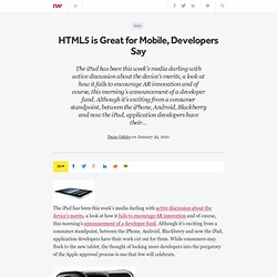 HTML5 is Great for Mobile, Developers Say - ReadWriteStart
