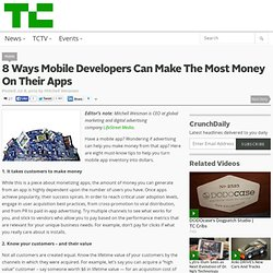 8 Ways Mobile Developers Can Make The Most Money On Their Apps