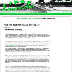 Find The Best Mobile App Developers - WakePics.com