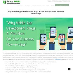 Why Mobile App Development Plays A Vital Role For Your Business Now-a-days