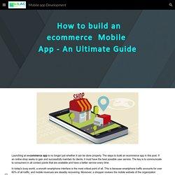 Mobile app Development - E-commerce App Development