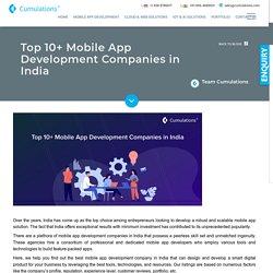Top 10+ Mobile App Development Companies in India