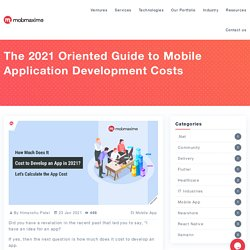 Mobile App Development Cost in 2021