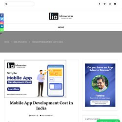 Mobile App Development Cost in India