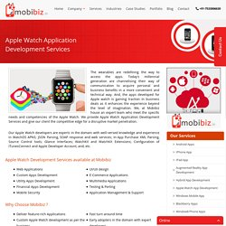 Apple Watch Mobile App Development, Apple Watch App Developer