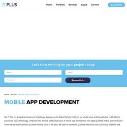 Enhance Your Business - Best Mobile App Developers In Dubai.