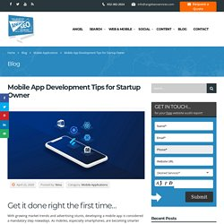 Mobile App Development Tips for Startup Owner