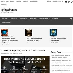 Best Mobile App Development Tools And Trends In 2018