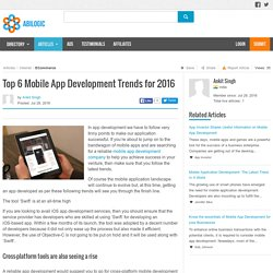 Top 6 Mobile App Development Trends for 2016