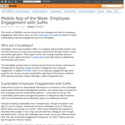 Mobile App of the Week: Employee Engagement with SuMo