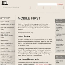 Mobile First — Responsive Web Design