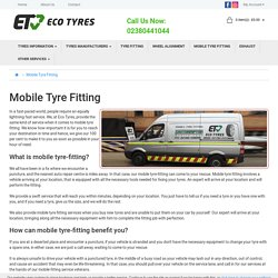 Mobile Tyre Fitting Southampton