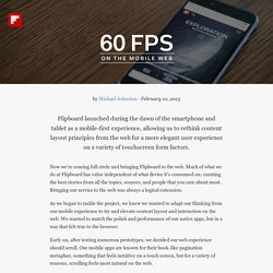 60fps on the mobile web — Flipboard Engineering