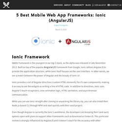 5 Best Mobile Web App Frameworks: Ionic (AngularJS)