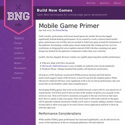 Mobile Game Primer - Build New Games