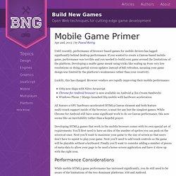 Mobile Game Primer