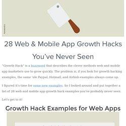 Exemples de growth hack
