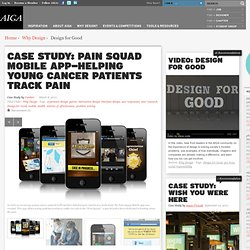 Case Study: Pain Squad Mobile App—Helping Young Cancer Patients Track Pain