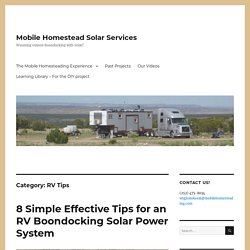 RV Tips – Mobile Homestead Solar Services