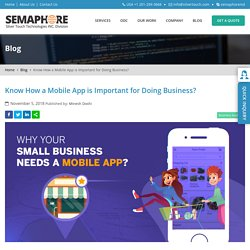 Know How a Mobile App is Important for Doing Business? - Home