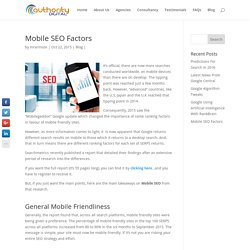 Mobile SEO - Important On Page Factors