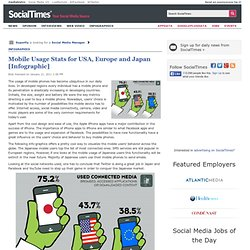 Mobile Usage Stats for USA, Europe and Japan [Infographic]