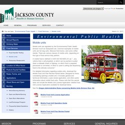 Mobile Units - Jackson County Environmental Public Health