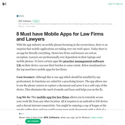 8 Must have Mobile Apps for Law Firms and Lawyers
