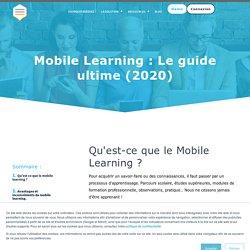 Mobile Learning : Le guide ultime de l'apprentissage mobile