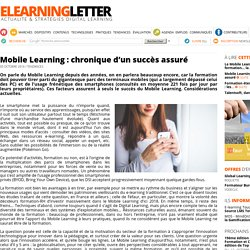 Mobile Learning : chronique d'un succès assuré